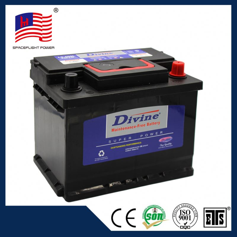 55530 DIN style big storage car battery wholesale