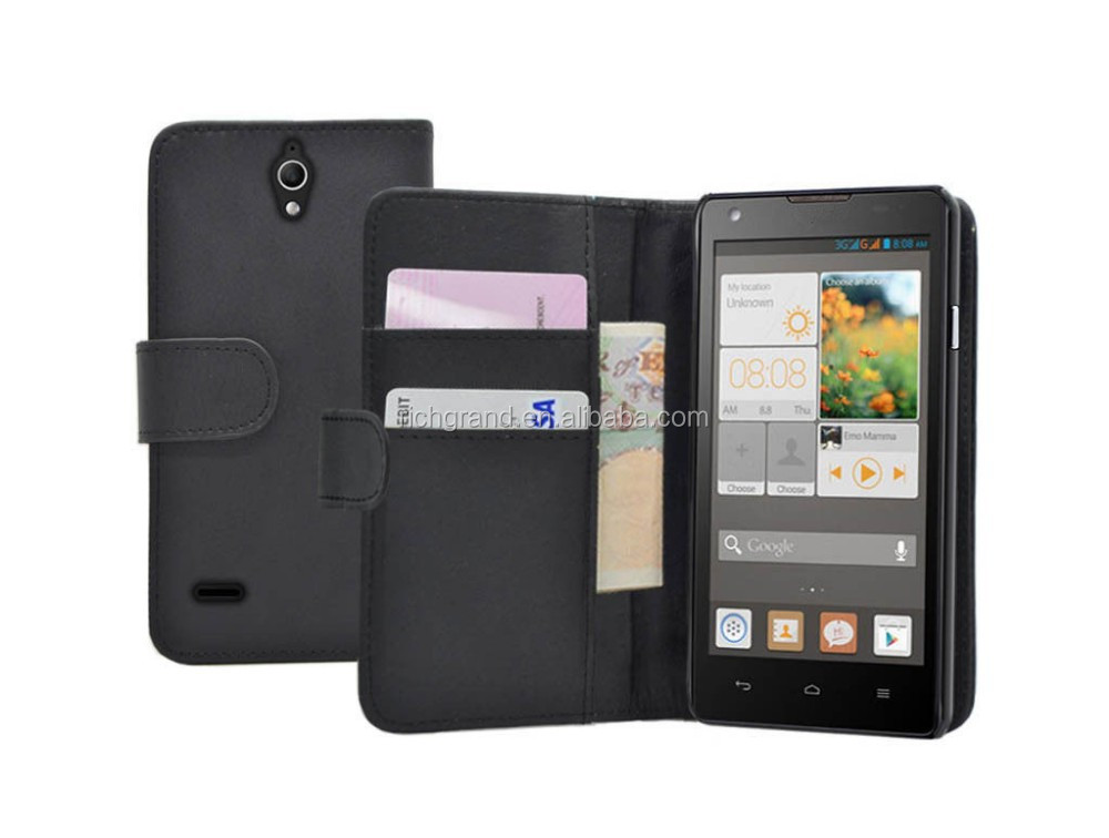 Wallet leather flip case cover for Huawei Ascend G700 mobile phone accessories