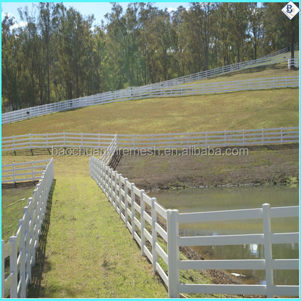 3 rails white electric tape horse fence