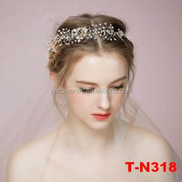 Gorgeous Gold Plated Floral Headband Wedding