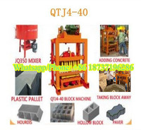 QTJ4-40 Low price hydraulic cement hollow block machine for sale/manual fly ash block and brick making machine