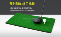 Indoor Mini Golf Hitting Mat for Golf Swing Training Putting Mat with Rubber Tee Holder 30*60cm