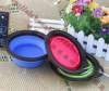 Safe and Environmental Silicone Foldable Collapsible Dog Bowl with Hook