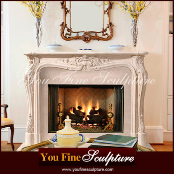 Indoor Decorative French Style Fireplace Marble Fireplace