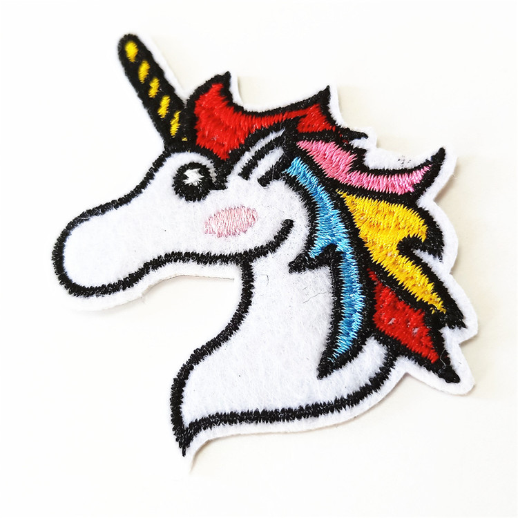 customized cartoon kids small lovely jeans embroidered heat press patches for backing