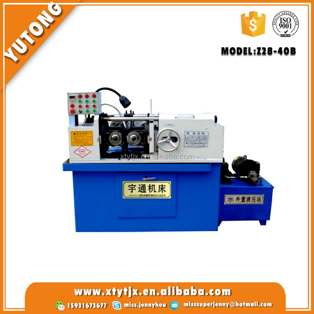 Screw thread rolling machine for rebar coupler used roll forming machine