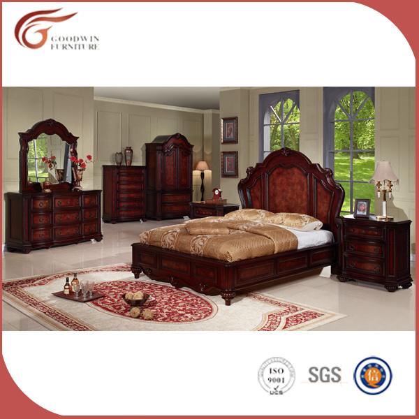 Cheap solid wood bedroom furniture set wholesale WA137