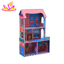 newest baby wooden toy doll house W06A142