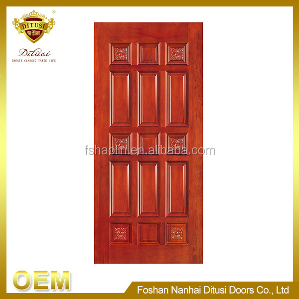 durable security non-deformation china plain solid wood doors JHA111