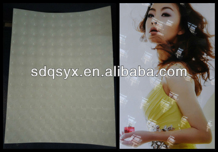 3D multi-lens film,Crystal Texture Photo Cold Lamination Film