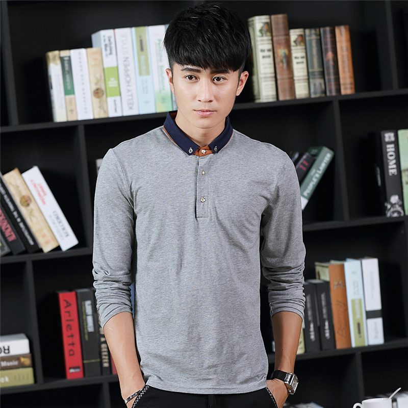 Fashion High Quality White Dress shirt Men Long Sleeve T shirt Men Cotton Brand Men Casual t-shirt Dresses Plus Size 3XL #KWD539