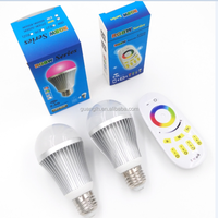 rgbw led bulb 9w led lighting bulb with 9 kinds of dynamic models