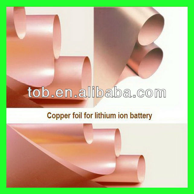 Lithium ion mobile phone battery anode current collector material electrolytic copper foil