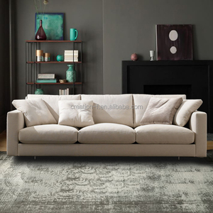 Modern Design Sectional Sofa with High Quality Linen Fabric for Living Room Furniture
