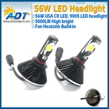 The New 3rd generation 56W 5000lm Car LED Headlight Kit 9005/HB3 LED Conversion Lamps kit new autopart for cars