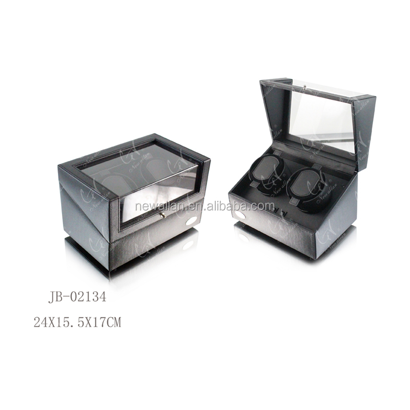 Acrylic Window Watch Winder for Double Mechanical Watches