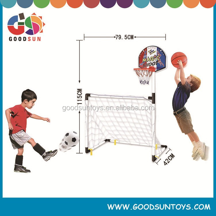 2 in 1 Soccer Goal Football Gates Game Set With Bsketball Pump