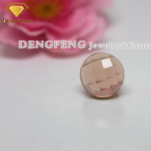 checker cut mushroom shape champagne cubic zirconia loose wholesale factory price