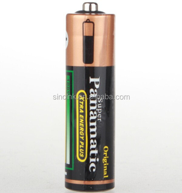 Panamatic shrink wrap R6 SIZE AA UM3 1.5V Battery Zinc Carbon (black)for remote control