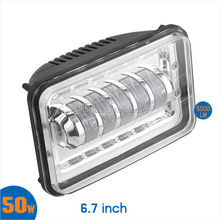 Best price sell well tractor head light square head light with C REE LED led headlight for car