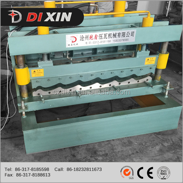 China Supplier Dixin Color Tile Roofing Sheet Roll Forming Making Machine Equipment Lin