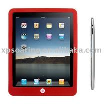 red Chocalate silicone rubber case back cover for ipad