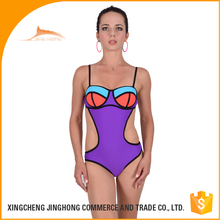 indian hot high neck sexy one piece girls swimwear