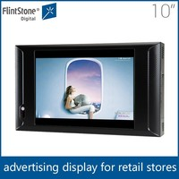 "Flintstone 10"" lcd video board advertising display video publicidad pantalla 10 inch point of sale digital monitor"