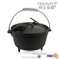 Hot sale pre-seasoned cast iron camping dutch oven wholesale