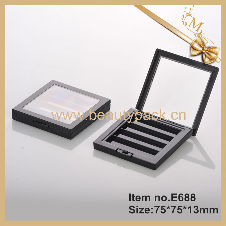 Luxury 4 color eyeshadow palette packaging with window