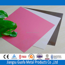 PE Coated Red Color H24 H14 3003 3004 3005 2mm Thick Aluminium Sheets