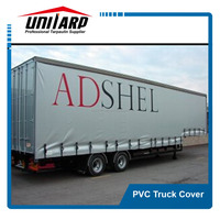 anti-uv pvc truck cover with logo printing