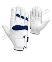 White Cabretta Leather Golf Gloves