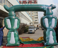 2015 Hot-selling cheap custom green inflatable wedding arch