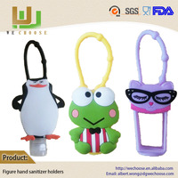 Wholesale Best souvenir gifts antibacterial hand sanitizer with panda 3d animal silicone hand sanitizer holder