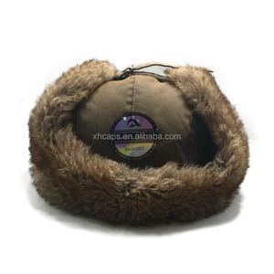 warm fold up winter hats with fur and earflaps