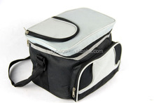 new folding picnic cooler bag / 600D stripe cooler bag with tote hand / Wholesale insulated cooler lunch bag
