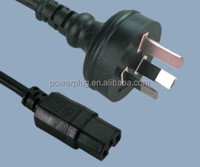 IEC C15 to Australia AC Power Cord with 10A 250V cable plug