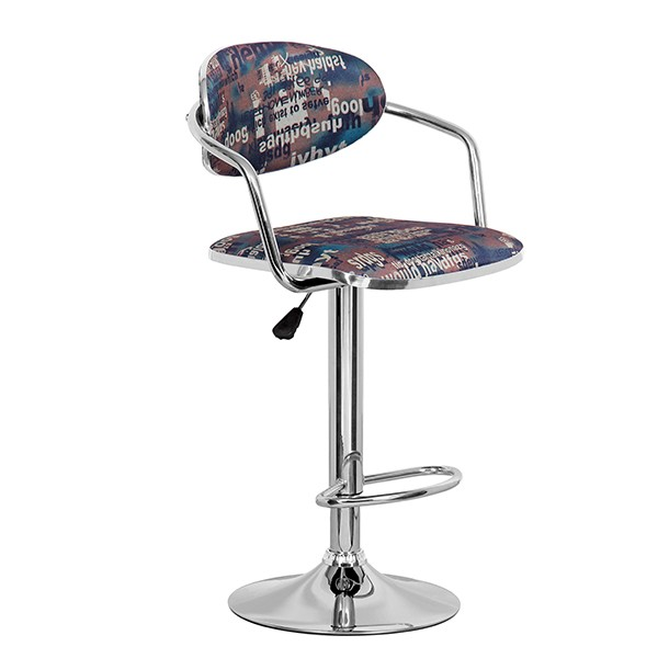 Alibaba Website PVC Leather High Back Bar Stool