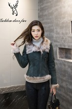 Manufacturers selling fashion green short winter coat