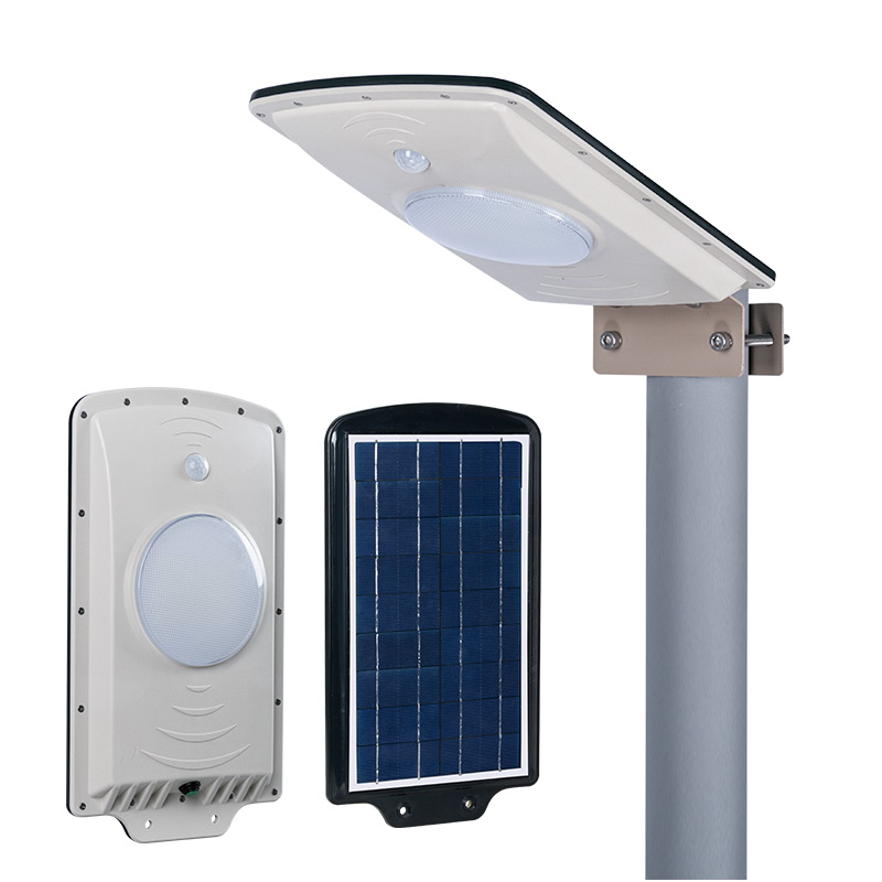 Waterproof outdoor ip65 dc12v 6w all in one integrated powered solar outdoor lighting led garden light