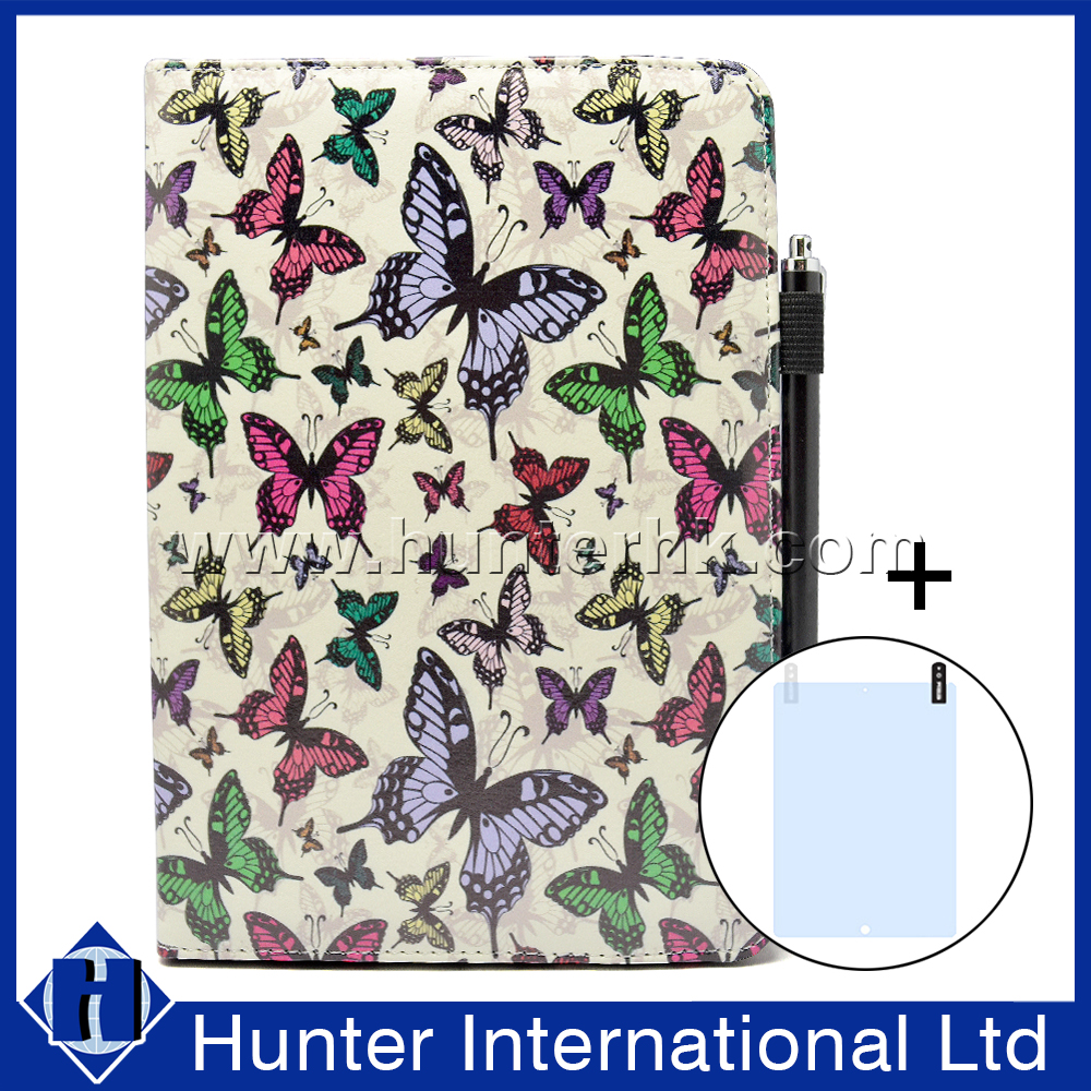 Butterfly With Stylus Pen For 7-8 inch Rotatable Case