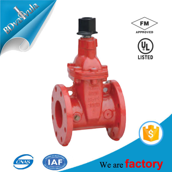 200PSI 300PSI Non-rising Stem Resilient Seated UL listed Gate Valve