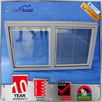 Heat insulation fixed panel window/fix top window with venetian blinds