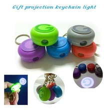 Sell projector keychain torch logo keychain projection flashlight