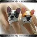 Daihe fashion children jewelry resin made bulldog ring