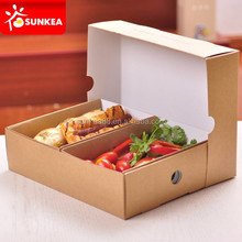 Disposable custom printed takeaway big kraft paper food platter box