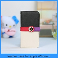Lovely Wallet Flower Leather Flip Stand Hard Pouch Case Cover For iPhone 5S 5G