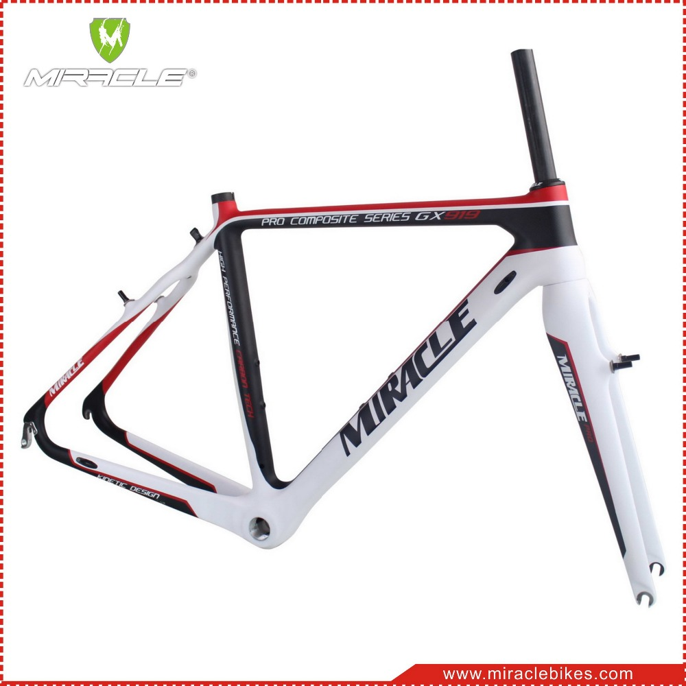 Miracle new design cyclocross bikes carbon fork,V-brakes carbon bike fork CX carbon fork