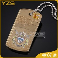 Wholesale flag dog tags with necklace
